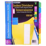 Index Dividers 8PK (Assorted Colours) - 0