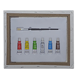 """12 X 9"""" Paint Your Own Print Set On Wood Frame - 3"""