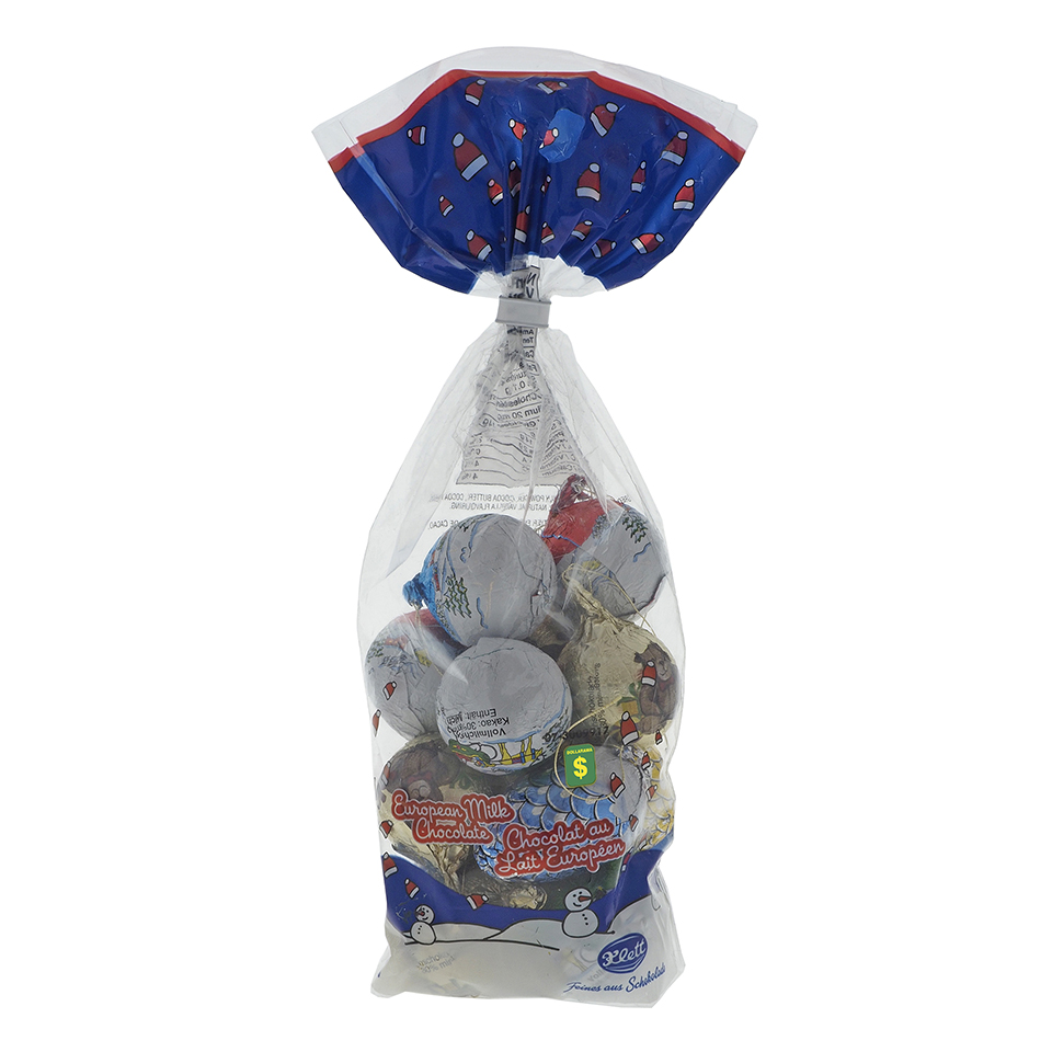 Foil Covered Chocolate Decorations In A Bag