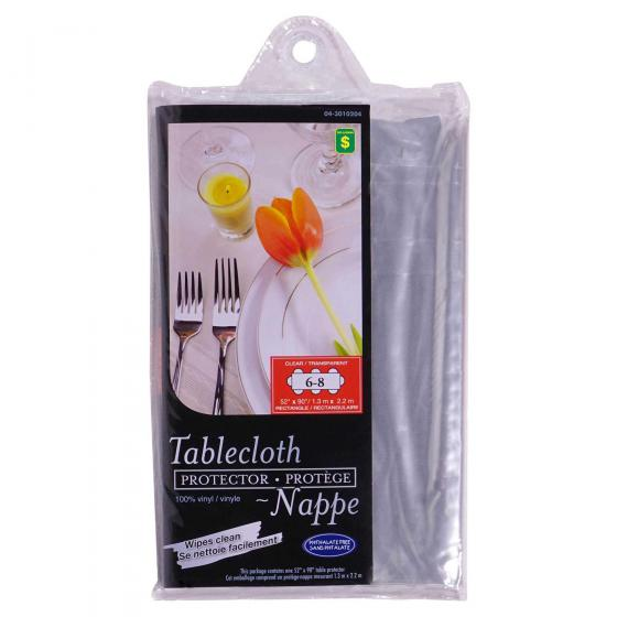 Nappe rectangulaire en vinyle transparent