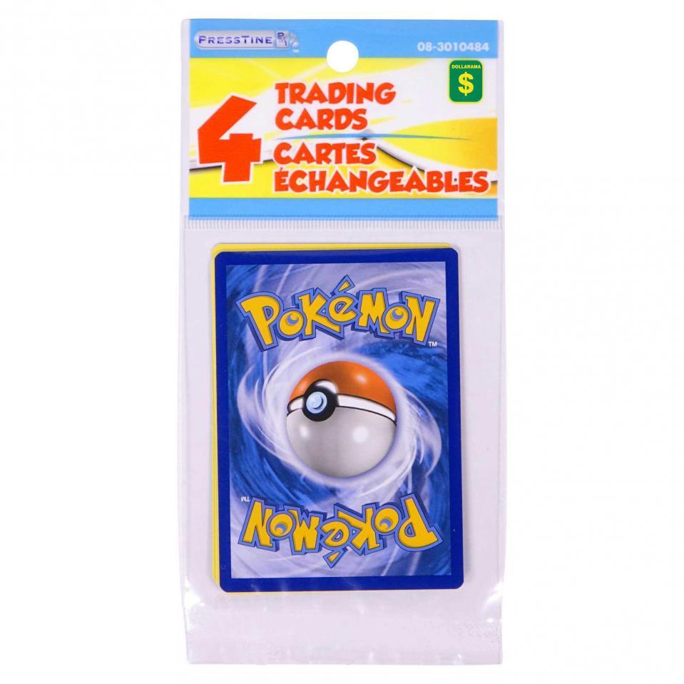 4 Cartes échangeables Pokémon