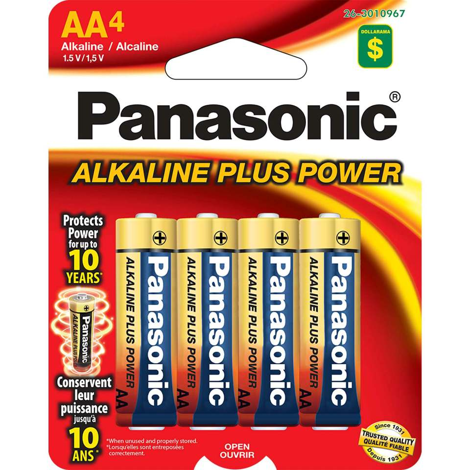 4x AA Alcaline Batteries