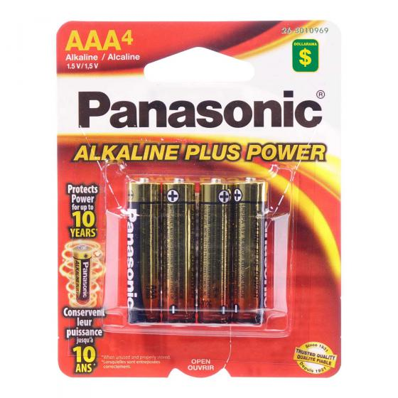 4x AAA Alkaline Batteries