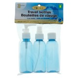 3 Travel Bottles (Assorted colours) - 0
