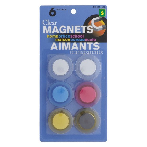 Clear Coloured Magnets (Assorted Sizes and Colours)