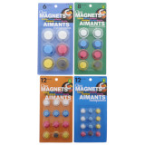 Clear Coloured Magnets (Assorted Sizes and Colours) - 1