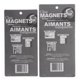 Clear Coloured Magnets (Assorted Sizes and Colours) - 3