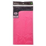 Rectangular Hot Pink Plastic Table Cover - 0