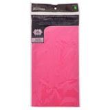 Nappe rectangulaire rose vif en plastique - 0