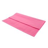 Nappe rectangulaire rose vif en plastique - 1