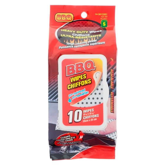 10pc Heavy Duty BBQ Wipes