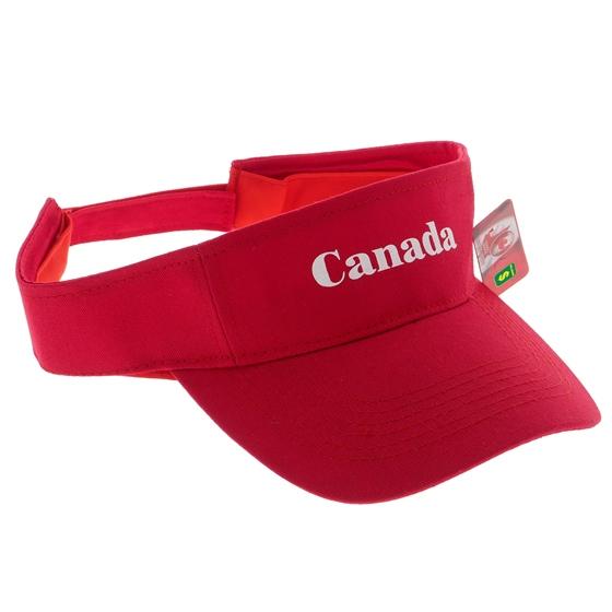 Visière sergé souvenir du Canada en Cotton
