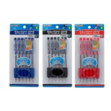 6PK Ballpoint Pens (Assorted colours) - 1