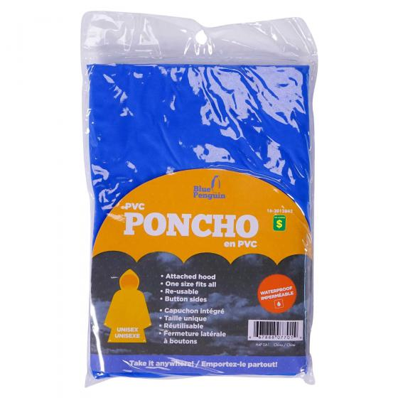 Poncho en PVC (Couleurs assorties)