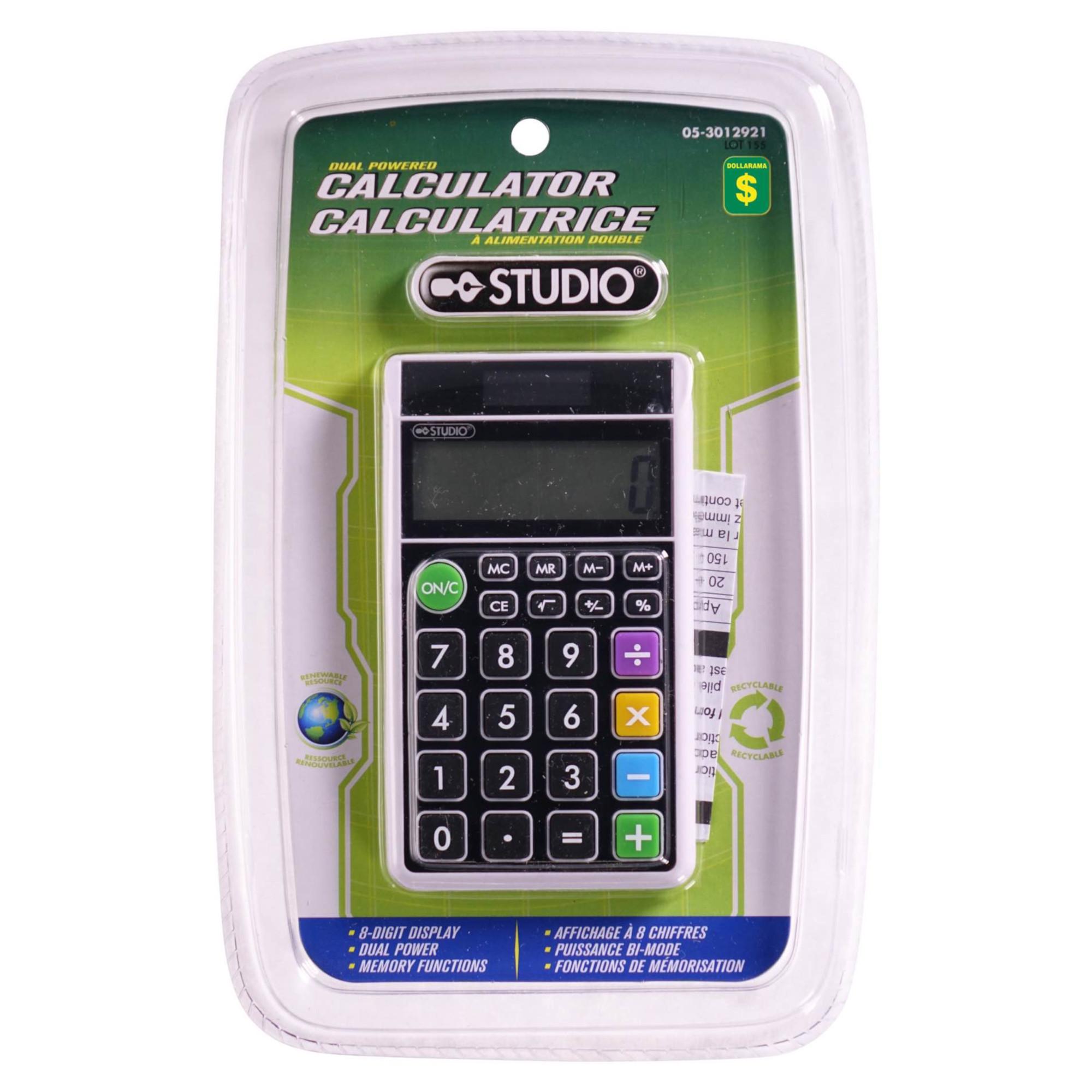 Calculatrice A Alimentation Double Dollarama