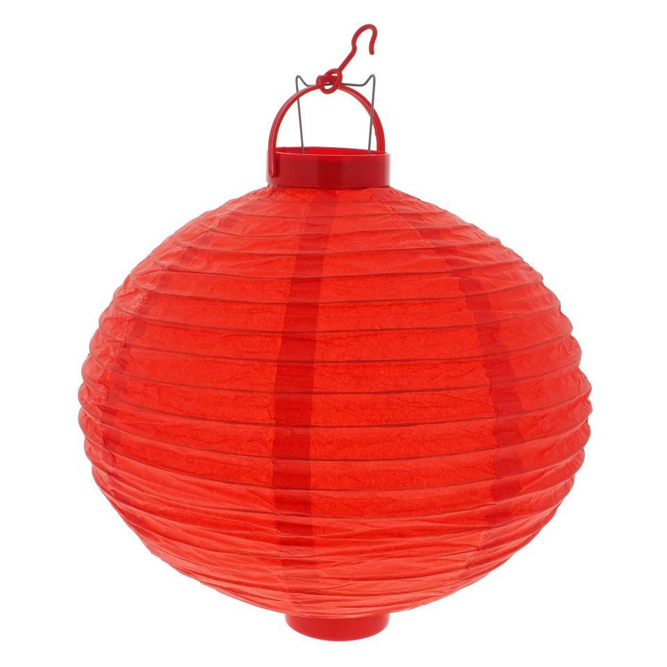 "12"" Led Light Up Decorative Party Paper Lantern"