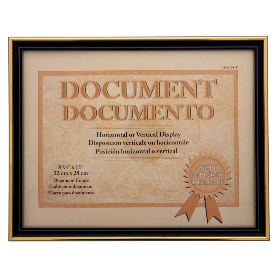 """Cadre pour document 8.5""""x11"""" à bordure métallique (Couleurs assorties)"""