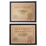 """Cadre pour document 8.5""""x11"""" à bordure métallique (Couleurs assorties) - 1"""