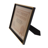 "8.5""x11"" Document Frame with Metallic Trim (Assorted Colours) - 2"