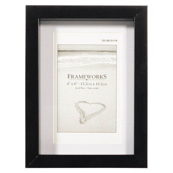4''x6'' Plastic Photo Frame with Matting (Assorted colours)