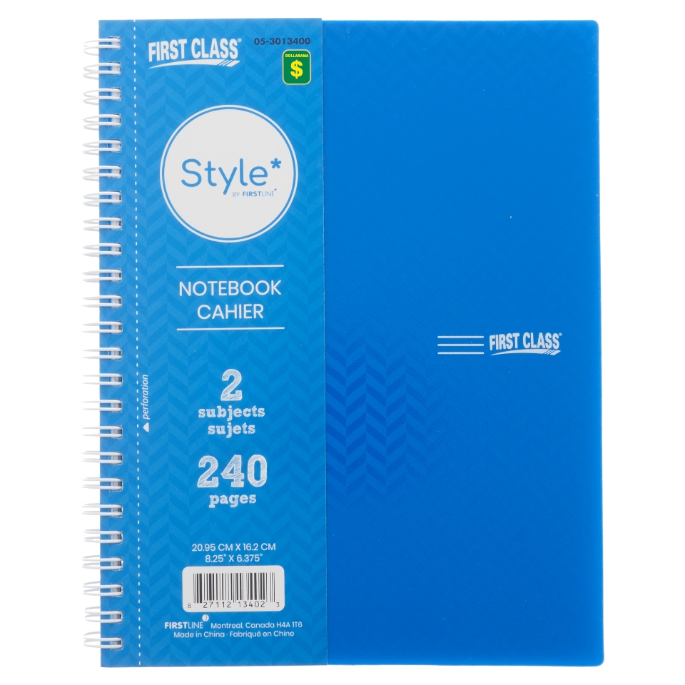 Side Spiral Notebook (Assorted Colours and Designs)