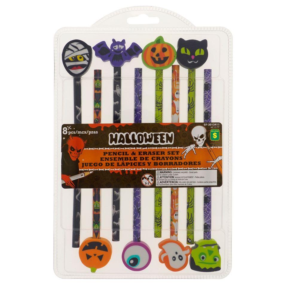Halloween 8pk Pencil with Eraser