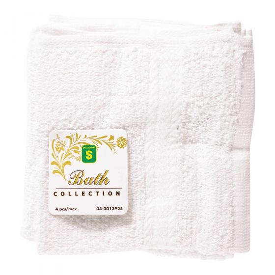 White Face Cloths 4PK
