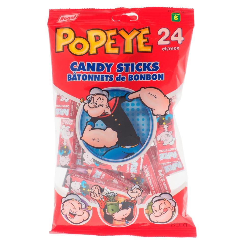 Popeye Candy Sticks 24PK