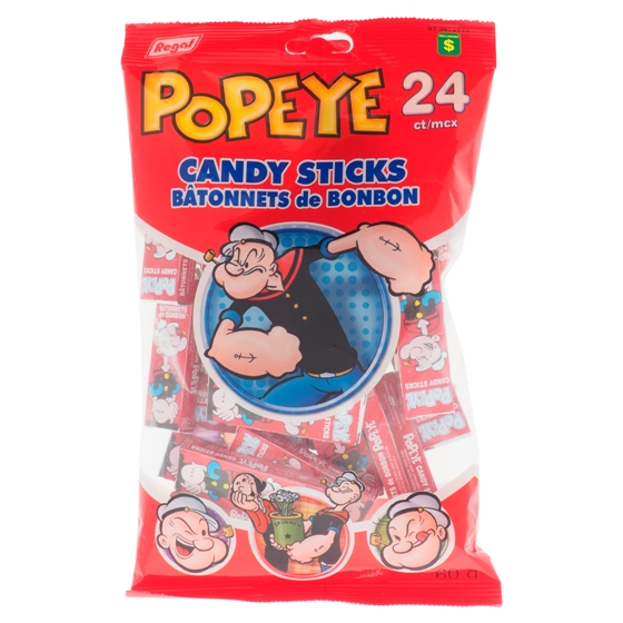 Popeye Candy Sticks 24PK