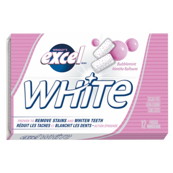 12PK WHITE Bubblemint Gum
