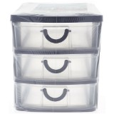 3 Drawer Organizer With Handles (Assorted Colours) - 0