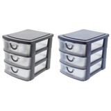 3 Drawer Organizer With Handles (Assorted Colours) - 1