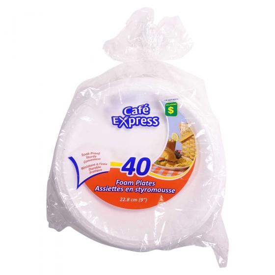 40 Assiettes en Styromousse