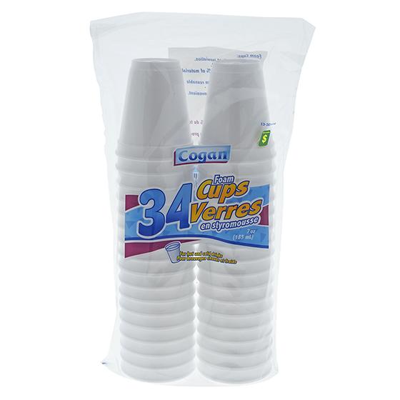 40PK Foam Cups
