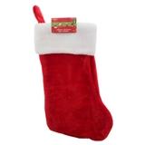 Bas de Noël avec bord blanc épais - 0
