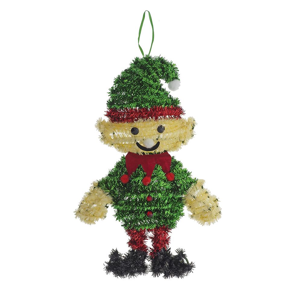 Hanging Tinsel Christmas Figures