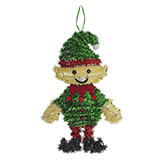 Hanging Tinsel Christmas Figures - 0