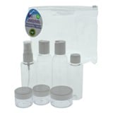 Travel Pouch Set with Containers and Labels 8PC (Assorted Colours) - 2