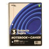 3-Subject Spiral Notebook (Assorted colours) - 0