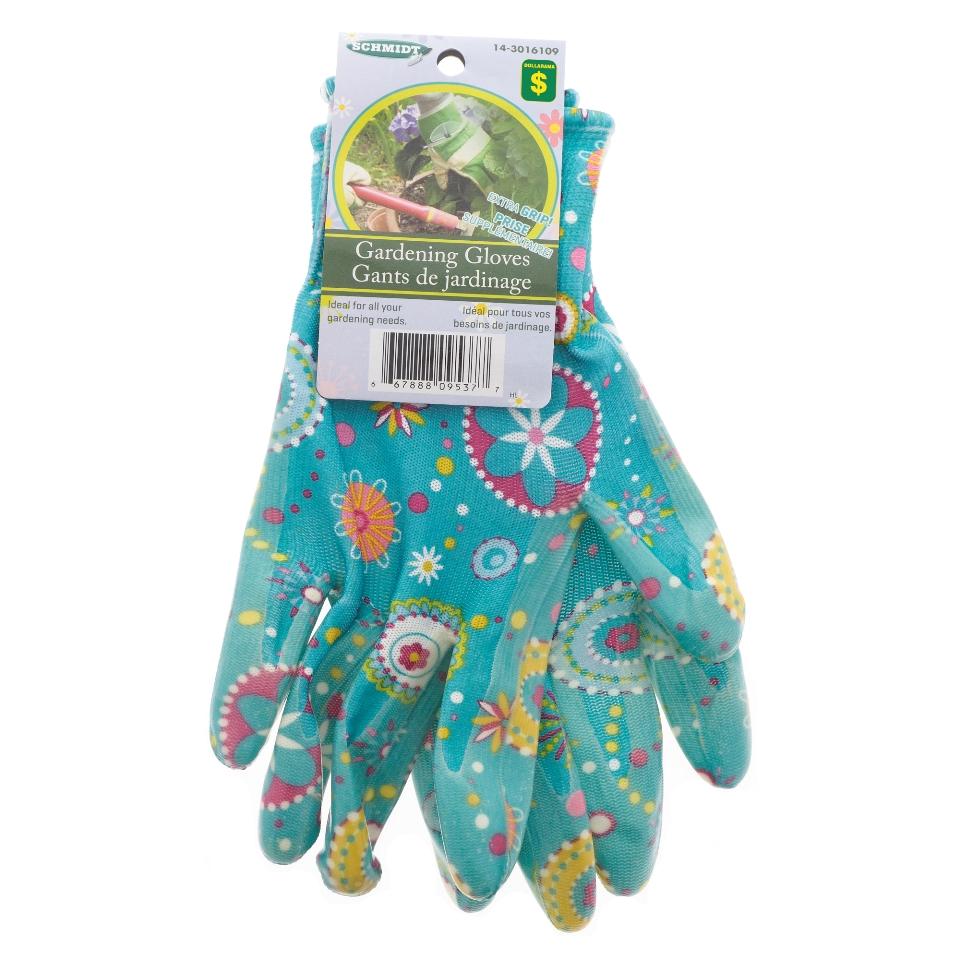 "Women'S Size 8"" Printed Nitrile Gardening Gloves"