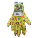 "Women'S Size 8"" Printed Nitrile Gardening Gloves - 1"