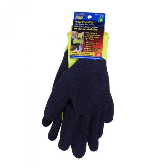 High Visibility Latex Coated Work Gloves (Assorted Sizes)
