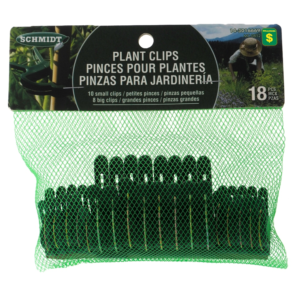 18Pk Plant Clips: 8 Big And 10 Small