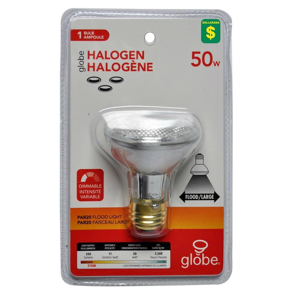 Ampoule halogène PAR20 50W