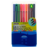 Fine Tip Marker Set 18PK (Assorted Colours) - 0