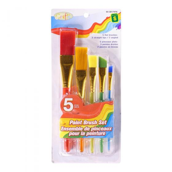 Colourful Paint Brush Set 5PC