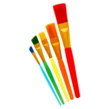 5PC Colourful Paint Brush Set - 1