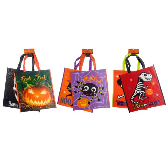 2PK Printed Plastic Bags with Handles