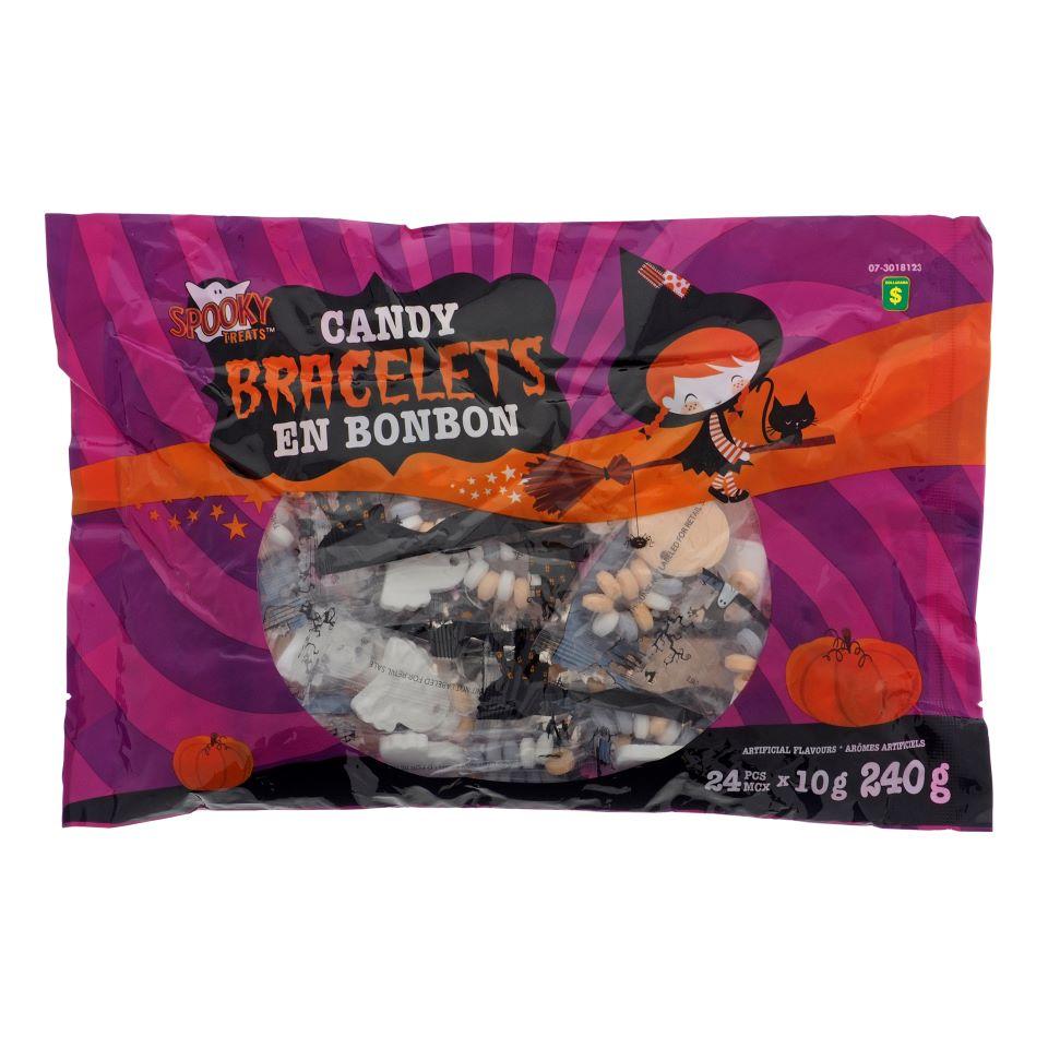 25Pk Halloween Candy Bracelets