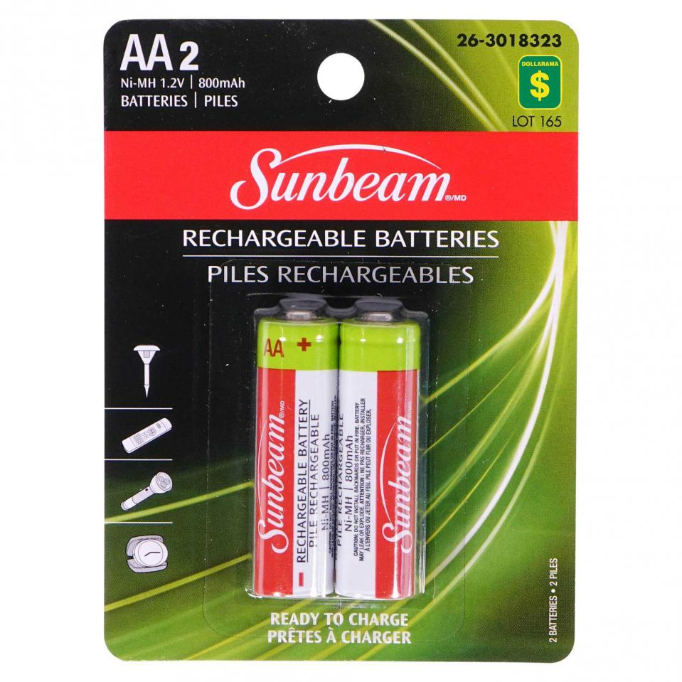 2 Piles rechargeables AA